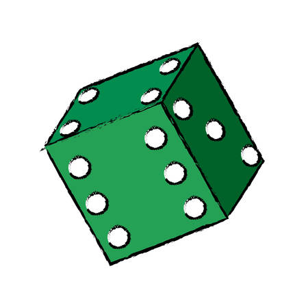 gambler: Casino dice concept icon vector illustration graphic design