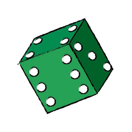 Casino dice concept icon vector illustration graphic design