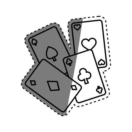 Casino cards game concept icon vector illustration graphic design Illustration