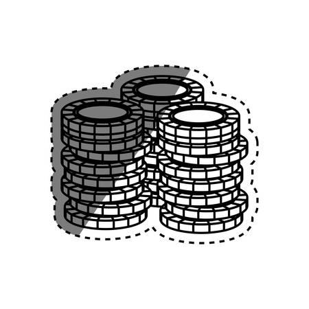 Casino chips concept icon vector illustration graphic design