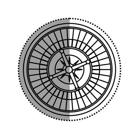 Casino Roulette game icon vector illustration graphic design Illustration
