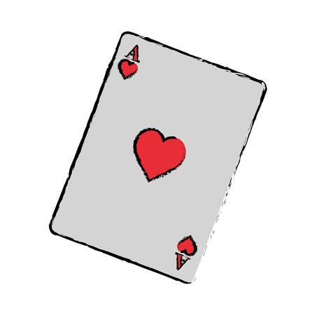 Casino card game concept icon vector illustration graphic design