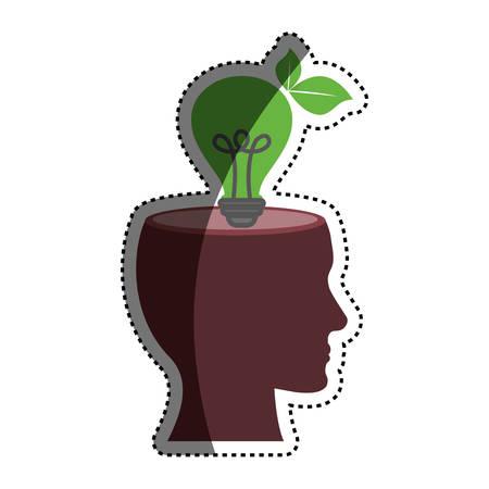 ming: Bulb or big idea icon vector illustration graphic design