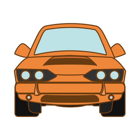 sport car vehicle icon over white background. colorful design. vector illustration