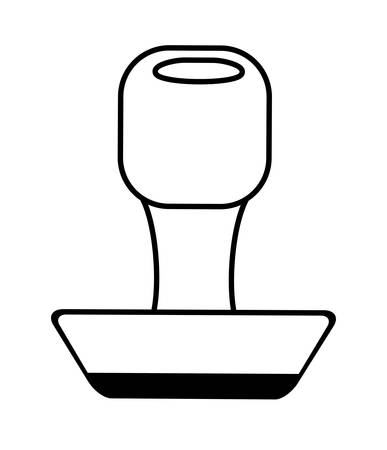 rubber stamping supplies outline vector illustration 10