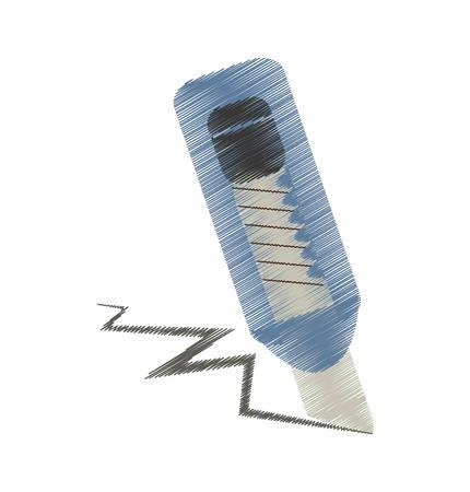 engrapadora: dibujo herramienta ilustración vectorial escuela cortador de EPS 10 Vectores