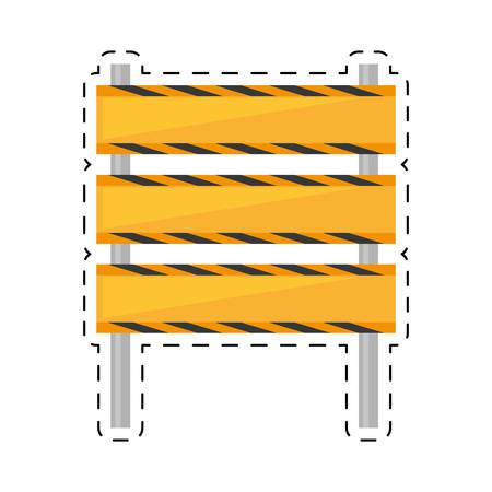 traffic barricade: barricade construction traffic caution cut line vector illustration eps 10