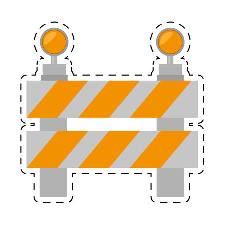 omitted: road barrier stop warning light cut line vector illustration eps 10 Illustration