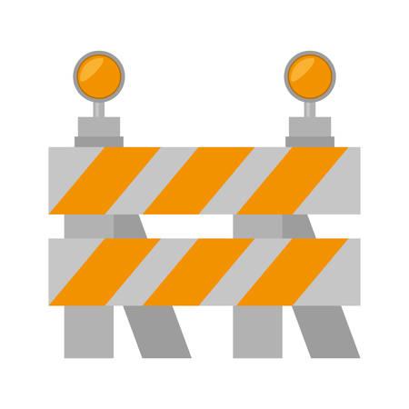 road barrier stop warning light vector illustration eps 10 Illustration
