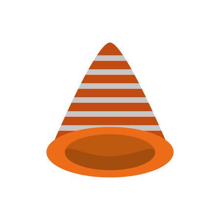 traffic cone caution sign vector illustration eps 10 Illustration