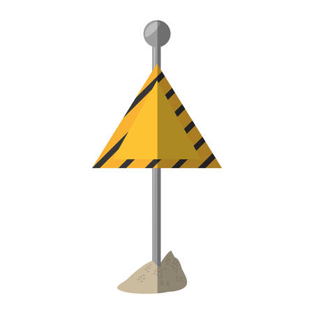 cartoon sign road caution triangle vector illustration eps 10 Illustration