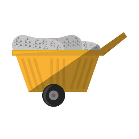 cartoon cart train mining mineral vector illustration eps 10