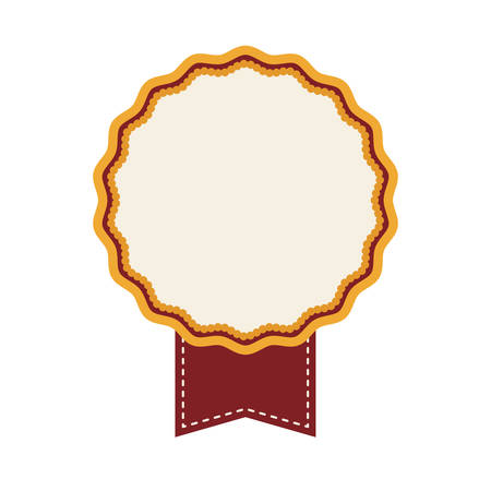 desing: seal stamp with label icon over white background. colorful desing. vector illustration