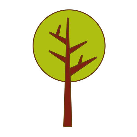 wilderness area: abstract tree icon image vector illustration design Illustration