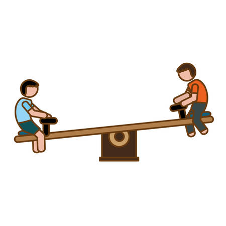 see saw: seesaw playground icon image vector illustration design Illustration