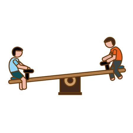 seesaw playground icon image vector illustration design Illustration