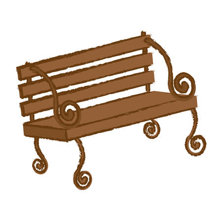 oudoors: oudoors bench icon image vector illustration design