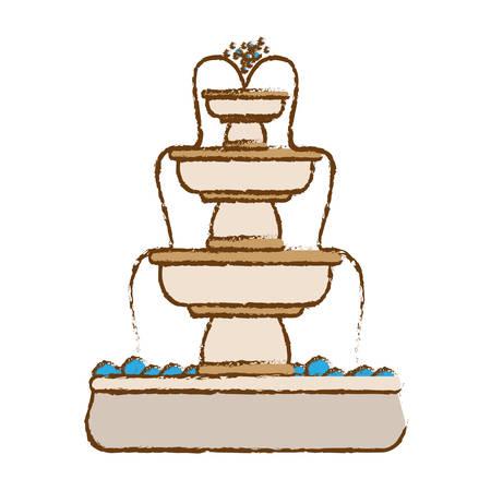 granite: classical fountain icon image vector illustration design