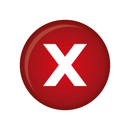 disapprove: x reject icon image vector illustration design