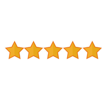 5 stars icon image vector illustration design