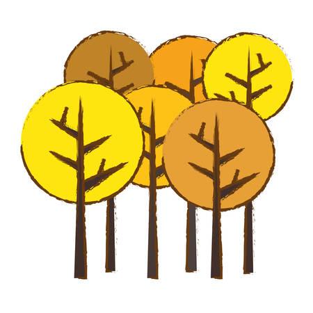 wilderness area: abstract trees fall season  icon image vector illustration design