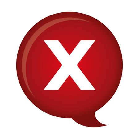 reject: x reject icon image vector illustration design