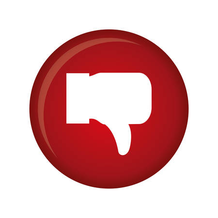 disapprove: thumb down icon image vector illustration design Illustration