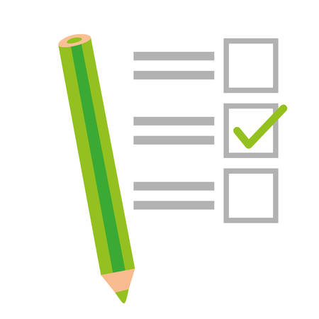 checklist with square cases icon image vector illustration design Illustration