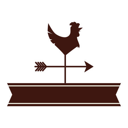 weathercock or vane icon image vector illustration design Illustration
