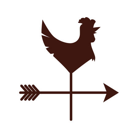 windward: weathercock or vane icon image vector illustration design Illustration