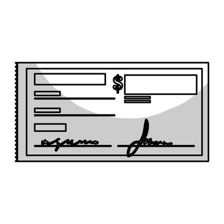 chequera: checkbook icon over white background. mobile payments design. vector illustration