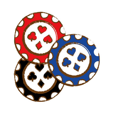 small group of objects: Casino chips icon over white background. colorful design. vector illustration