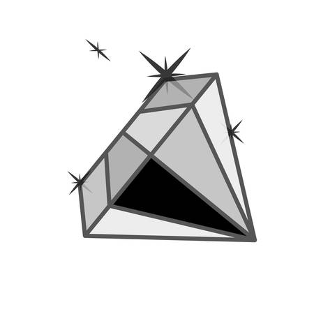 diamond gem icon over white background. vector illustration
