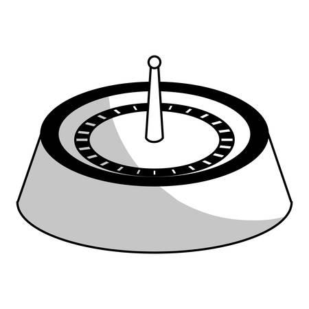 casino roulette wheel over white background. gambling games design. vector illustration