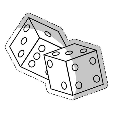 pair of dices icon over white background. vector illustration