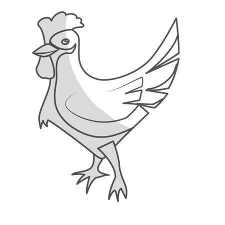 chicken icon. farm animal design. vector illustration Illustration