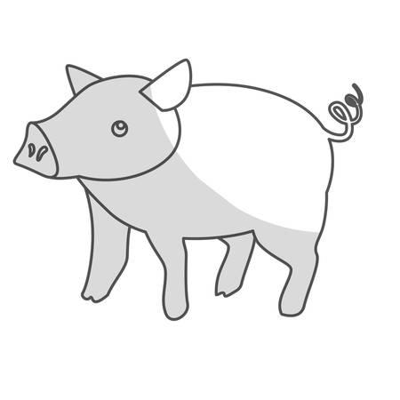cultivating: pig icon. farm animals design. vector illustration