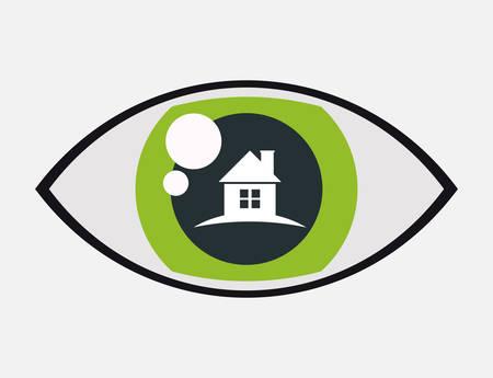 symbol vigilance: home securityvigilance eye protection vector illustration eps 10