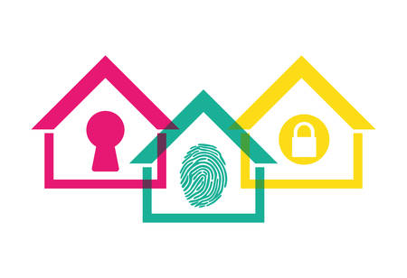 home security protection emblem design vector illustration eps 10