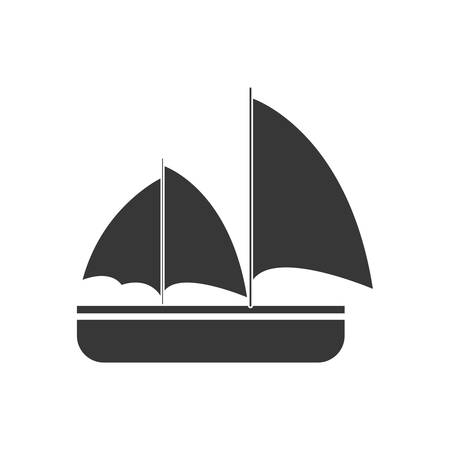 maritime: gray sailing travel maritime vector illustration eps 10