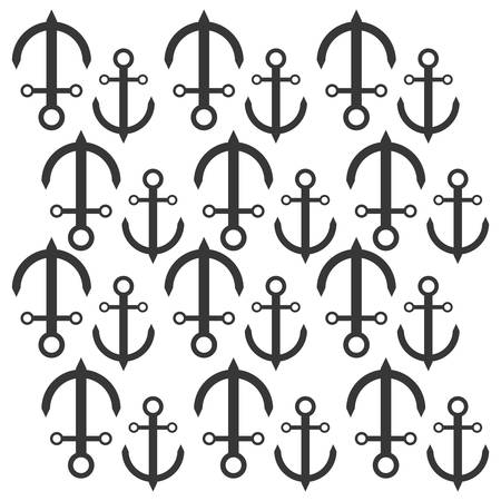 maritime: anchor nautical travel maritime seamless pattern vector illustration eps 10