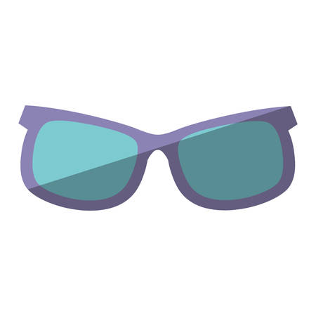 eyewear fashion: purple and blue sunglasses accessorie travel shadow vector illustration eps 10