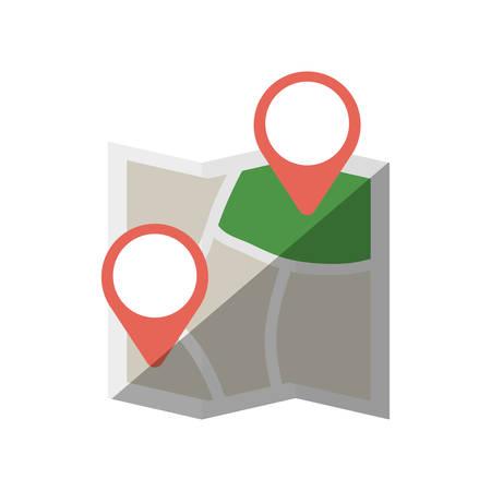 map world travel pin location shadow vector illustration eps 10