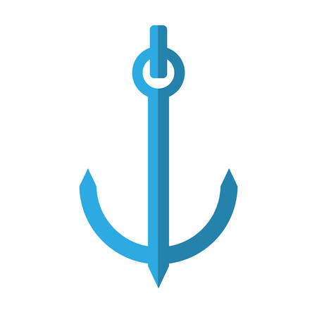 maritime: blue anchor nautical travel maritime shadow vector illustration eps 10