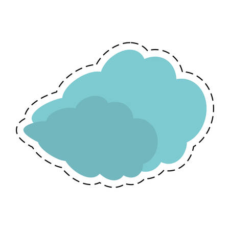 green road: travel cloud weather concept cut line vector illustration eps 10