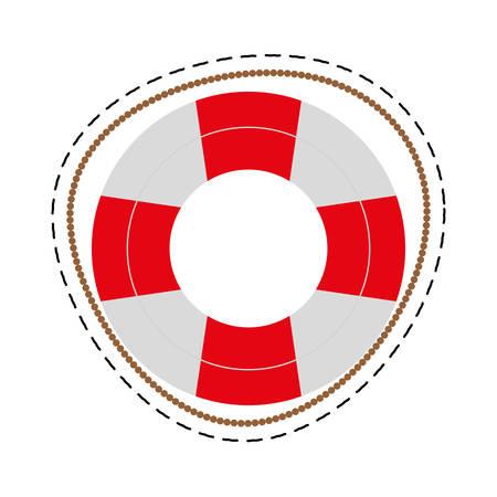 safety buoy: life buoy safety travel cut line vector illustration eps 10