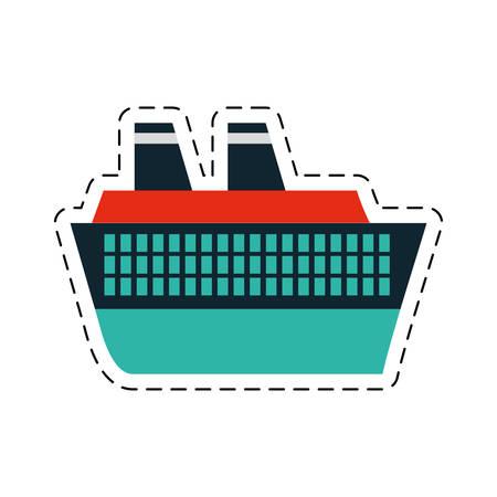 cruise ship travel maritime cut line vector illustration eps 10 Illustration