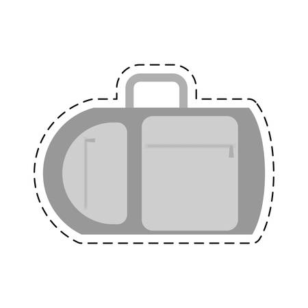 cut line: suitcase travel equipment vacation cut line vector illustration eps 10 Illustration