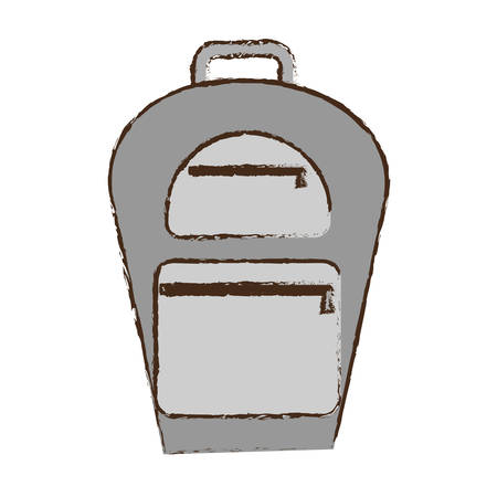 traveler: backpack traveler vacation color sketch vector illustration eps 10 Illustration