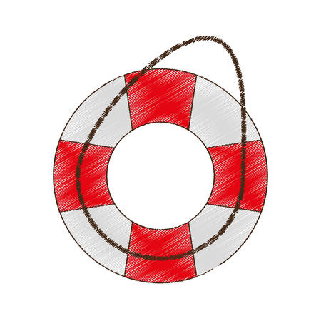 safety buoy: drawing life buoy safety travel vector illustration eps 10